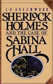 Cover of: Sherlock Holmes and the Case of Sabina Hall