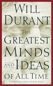 Cover of: The Greatest Minds and Ideas of All Time