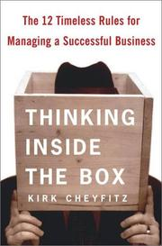 Cover of: Thinking Inside the Box