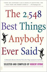 Cover of: The 2,548 best things anybody ever said |