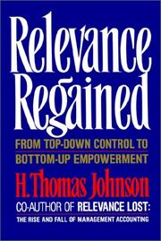 Relevance regained by H. Thomas Johnson