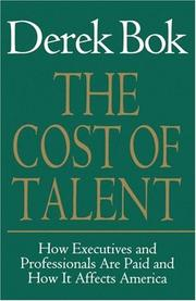 Cover of: The Cost of Talent | Derek Bok
