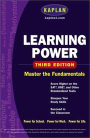 Cover of: Learning power