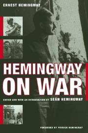 Cover of: Hemingway on war