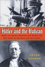 Cover of: Hitler and the Vatican