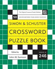 Cover of: Simon and Schuster Crossword Puzzle Book #246 | John M. Samson