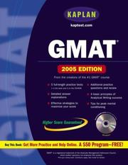 Cover of: Kaplan GMAT 2005 with CD-ROM