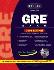 Cover of: Kaplan GRE Exam 2005 With CD-ROM