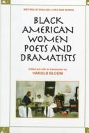 Cover of: Black American Women Poets and Dramatists (Writers of English)
