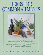 Cover of: Herbs for Common Ailments | Anne Mcintyre