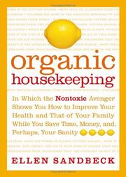 Cover of: Organic Housekeeping