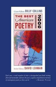 Cover of: The Best American Poetry 2006