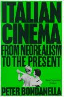 History of Italian Cinema by Peter Bondanella