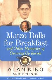 Cover of: Matzo Balls for Breakfast and Other Memories of Growing Up Jewish