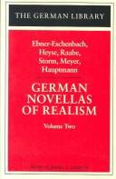 Cover of: German Novellas of Realism I (German Library) | Jeffrey L. Sammons