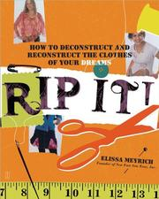 Cover of: Rip It! | Elissa Meyrich