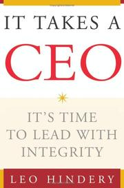 Cover of: It Takes a CEO
