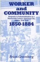 Cover of: Worker Community CB | Greenberg B