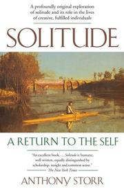 Cover of: Solitude | Anthony Storr