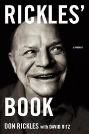 Cover of: Rickles' Book: A Memoir