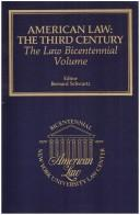 Cover of: American Law: The Third Century
