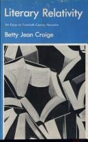Cover of: Literary relativity | Betty Jean Craige