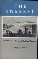 Cover of: The Knesset | Gregory S. Mahler
