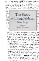 Cover of: The Poetry of Irving Feldman