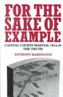 For the sake of example by Anthony Babington