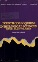 Cover of: Fourth Colloquium in Biological Sciences | Fleur L. Strand
