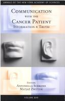 Cover of: Communication With the Cancer Patient |