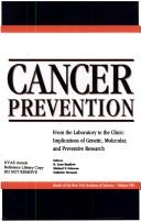 Cover of: Cancer prevention |