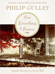 Cover of: For Everything a Season | Philip Gulley