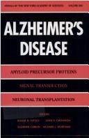 Cover of: Alzheimer