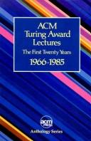 Cover of: ACM Turing Award lectures |