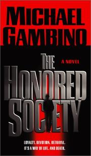 Cover of: The honored society | Michael Gambino
