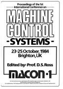 Cover of: Proceedings of the 1st International Conference on Machine Control Systems