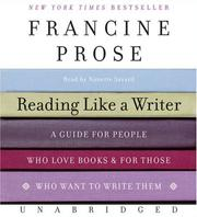 Cover of: Reading Like a Writer CD: A Guide for People Who Love Books and for Those Who Want to Write Them