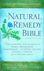 Cover of: The natural remedy bible | Michael Tierra