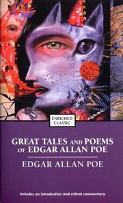 Cover of: The great tales and poems of Edgar Allan Poe