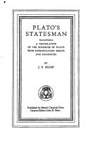 Cover of: Plato's Statesman | Plato