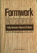 Cover of: Formwork Notebook