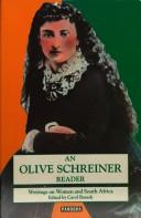 Cover of: An Olive Schreiner Reader | Carol Barash