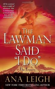 "Cover of: The Lawman Said ""I Do"""