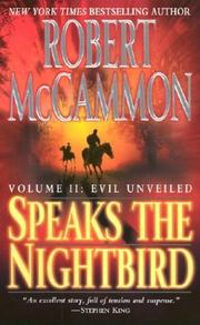 Cover of: Speaks the Nightbird, Vol. 2: Evil Unveiled