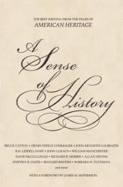 Cover of: A Sense of History | American Heritage