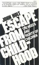 Cover of: Escape from Childhood