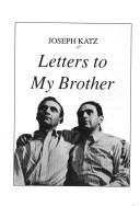 Cover of: Letters to My Brother | Joseph Katz