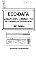Cover of: Eco-Data | Roland W. Schumann