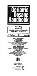 Cover of: Geriatric Dosage Handbook | Todd P. Semla